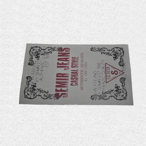 Cotton logo printing label QD-PL-0010