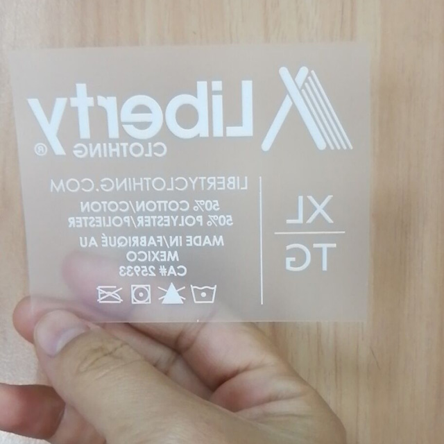 Heat transfer printing label QD-HTPL-0007