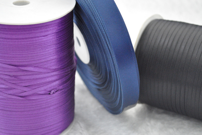 Pure color Printed Satin Ribbons QD-R-0003