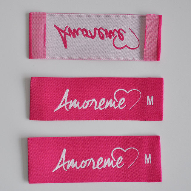 Red Woven label